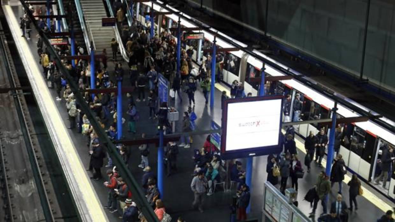 Huelga de Metro: servicios mínimos del 58 por ciento para este viernes