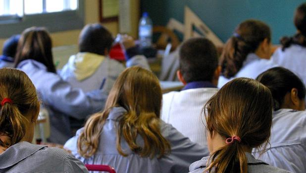 Imagen de archivo de una clase en un colegio religioso