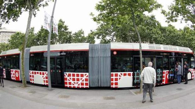 Imagen de un autobús de Barcelona