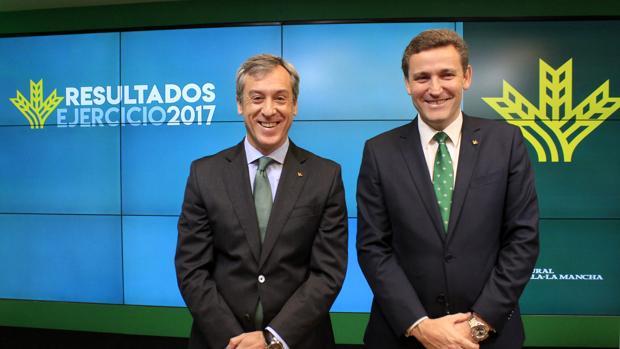 Javier López Martín y Victor Manuel Martín, presidente y director general de Caja Rural