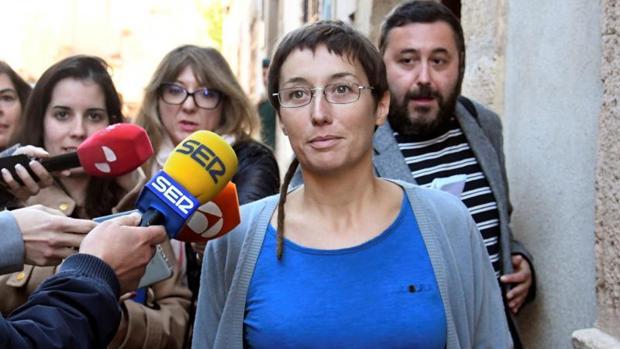La concejal del pueblo valenciano de Catarroja Datxu Peris, a la salida del juicio celebrado en Sepúlveda (Segovia) el pasado noviembre