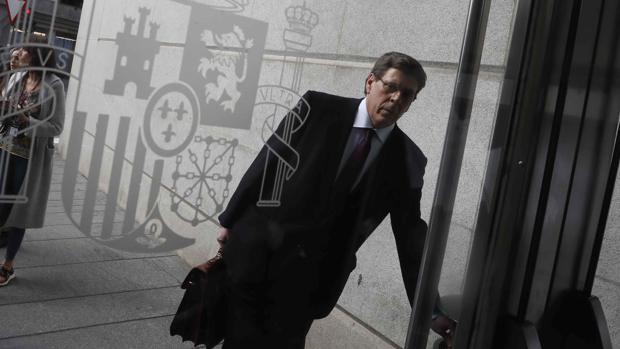 Juan Carlos Quer, a su llegada al Congreso