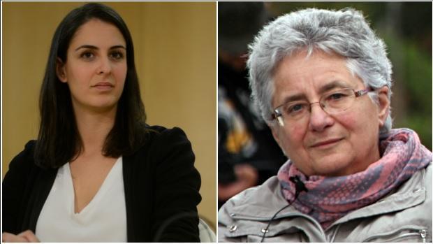Rita Maestre y Montserrat Galcerán