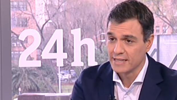 Pedro Sáncehz, durante un momento de la entrevista