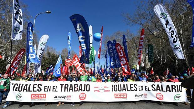 Manifestación, el día 24 de febrero en Madrid, de los funcionarios de prisiones