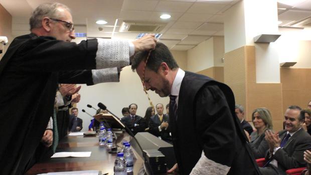 Ángel Cervantes, en su toma de posesión