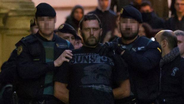 Igor el Ruso, horas después de ser detenido tras el triple crimen de Albalate del Arzobispo (Teruel)
