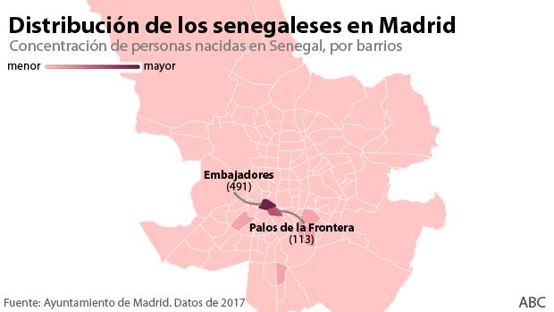 Senegaleses, una comunidad demasiado concentrada en un único barrio