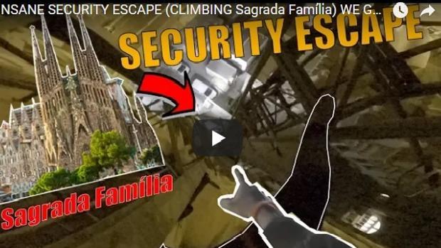 Vídeo subido a la página Youtube por los jóvenes que escalaron la Sagrada Familia
