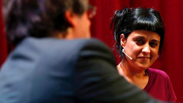 La exdiputada Anna Gabriel (CUP) y Carles Puigdemont en una imagen de archivo