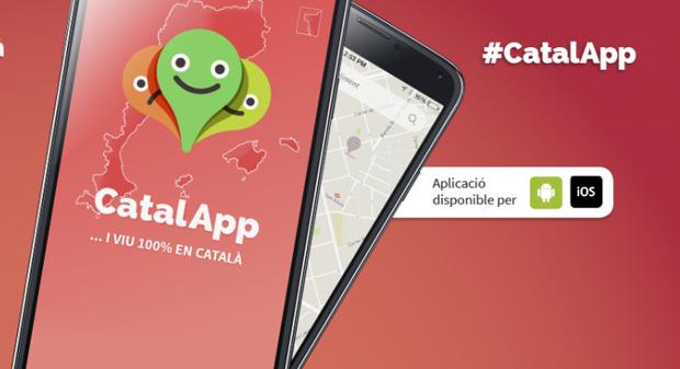Imagen de la aplicación lanzada en Cataluña por la Plataforma per la Llengua