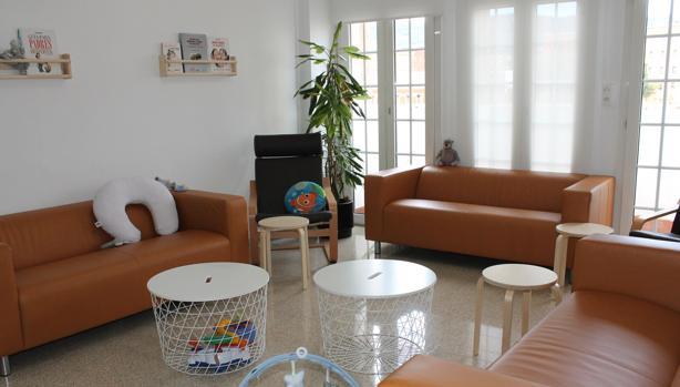 El espacio es confortable y está pensado para que las pacientes se sientan como en casa