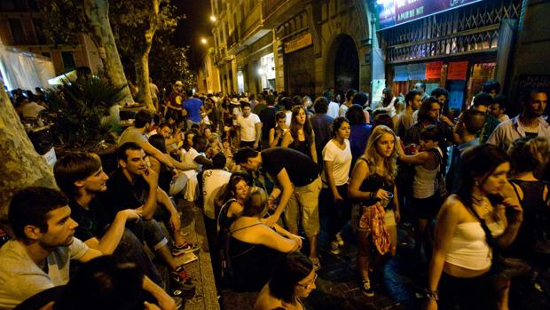 Vida nocturna en Barcelona