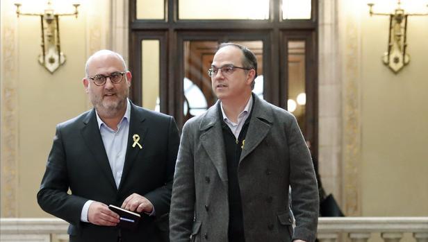 Jordi Turull, diputado de Junts per Catalunya, ayer en el Parlament