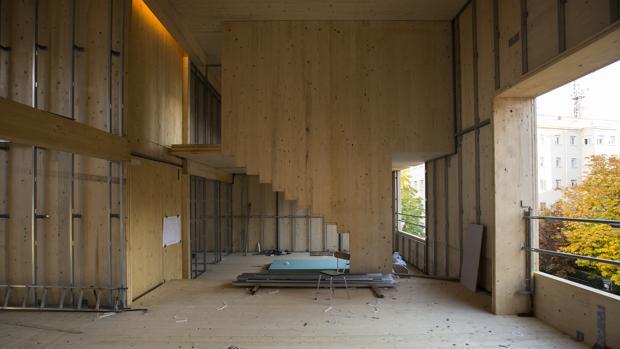 Interior de la vivienda en fase de construcción, tiempo atrás