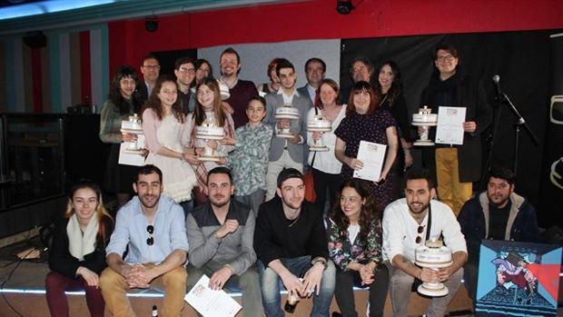 Los ganadores del festival de cine ciudadrealeña junto a la alcaldesa Pilar Zamora