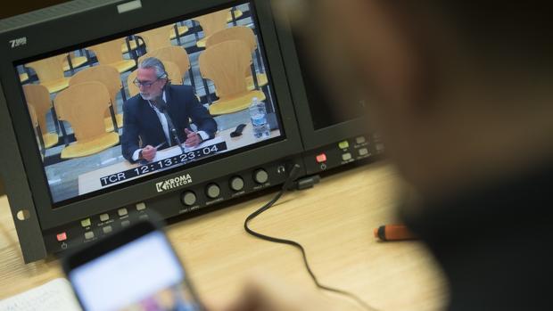 Imagen de Francisco Correa durante una declaración ante la Audiencia Nacional