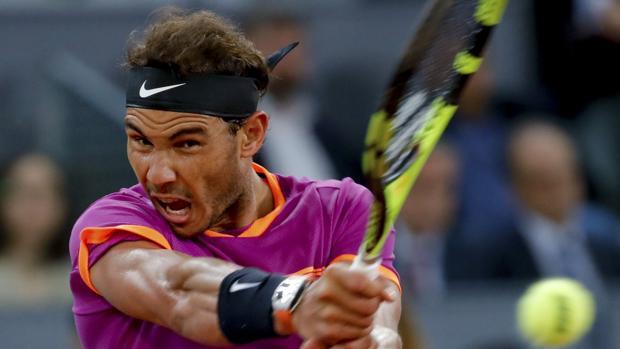 Imagen de Rafa Nadal durante un torneo disputado en mayo del pasado año