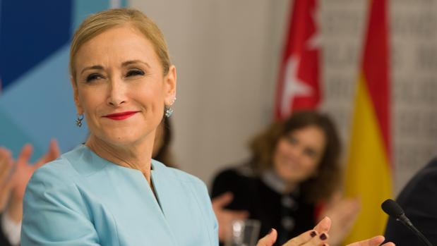 Cristina Cifuentes, presidenta autonómica y del PP de Madrid, en el comité ejecutivio regional de su partido