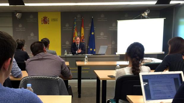 Imagen del delegado del Gobierno en la Comunidad Valenciana, Juan Carlos Moragues, tomada este martes
