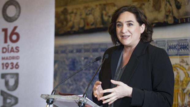 La alcaldesa de Barcelona, Ada Colau, en un acto reciente en Madrid