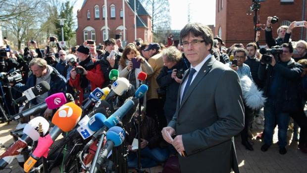 Puigdemont, en rueda de prensa desde Alemania