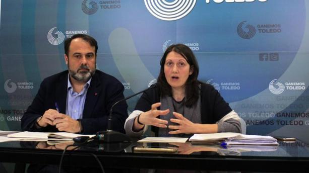 Javier Mateo y Eva Jiménez, concejales de Ganemos en Toledo