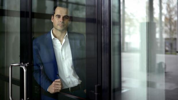 Ignacio Aguado, portavoz de Ciudadanos en la Asamblea de Madrid, ayer en la Cámara regional