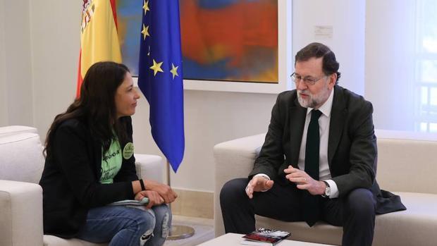Una representante de «Las Kellys» recientemente recibida por Mariano Rajoy en Moncloa