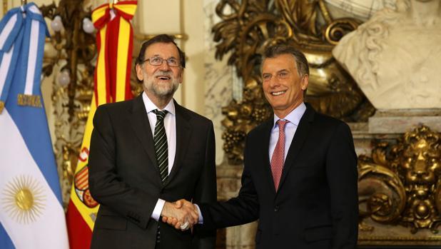 Los dos mandatarios, ayer en Buenos Aires
