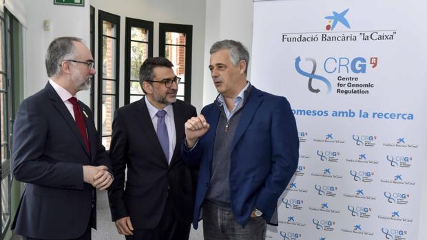 Arcadi Navarro, Ángel Font y Luis Serrano en Barcelona