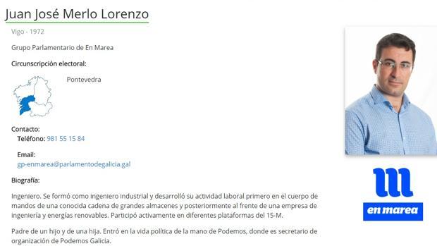 El secretario de Organización de Podemos Galicia se inventa que es ingeniero