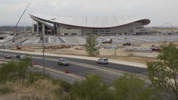 El aparcamiento del estadio Wanda metropolitano