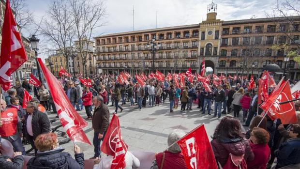 Protesta en Zocodover