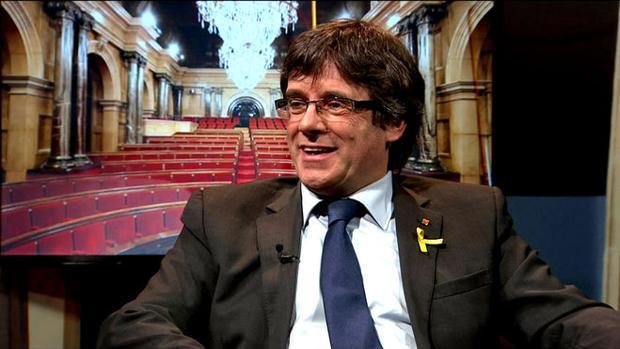 El expresidente durante la entrevista emitida ayer en TV3