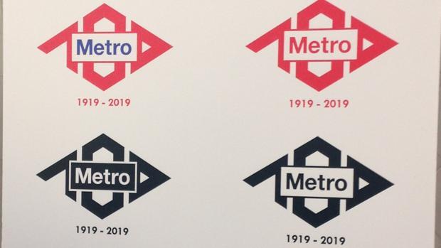Logotipo que ha ganado el concurso para la celebración de los 100 años de Metro