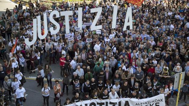 Manifestación del sábado en apoyo a los detenidos por la agresión