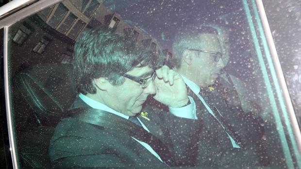 Carles Puigdemont, en Berlín el pasado domingo