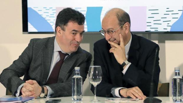 Román Rodríguez y Delmiro Prieto, presidente de Down Galicia