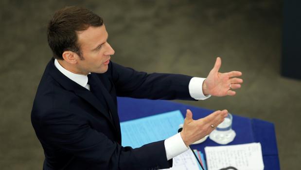 El presidente francés, Emmanuel Macron, este martes