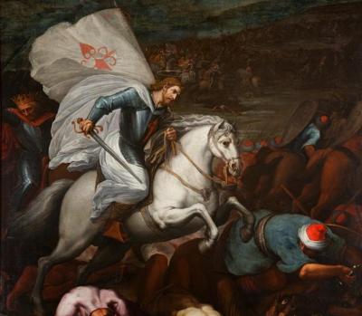 Cuadro que representa a Santiago Apóstol en la batalla de Clavijo