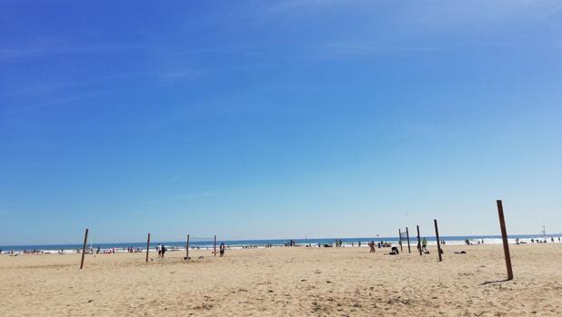 Imagen tomada en la playa de la Malvarrosa de Valencia