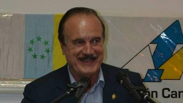 Manuel Báez, exalcalde de Firgas, en un acto de Coalición Canaria