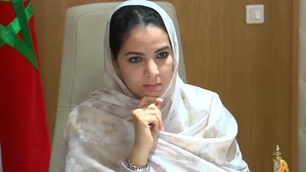 Rakiya Eddarhem en su despacho de Rabat