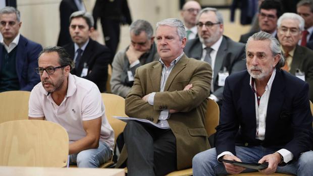 (De izda a dcha) Álvaro Pérez Alonso 'El Bigotes'; Pablo Crespo y Francisco Correa