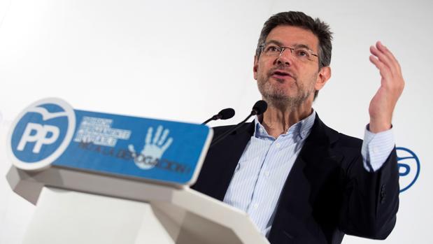 El ministro de Justicia, Rafael Catalá, hoy en Málaga