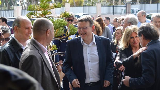 Ximo Puig, en el acto de este domingo en Alicante