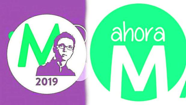 Errejón «plagia» el logotipo de Ahora Madrid en su candidatura para la Comunidad