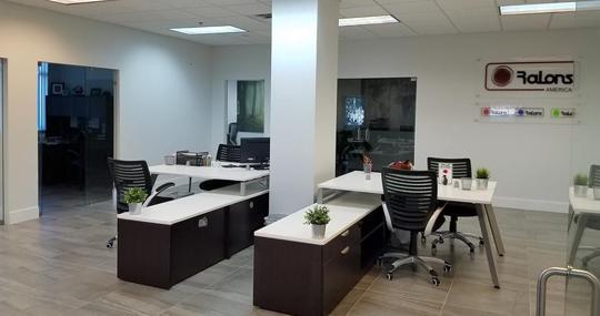 Interior de las oficinas del operador canario de seguridad en Miami