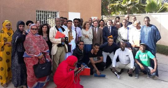 Formación de profesores mauritanos de español con el Cervantes en la Embajada de España